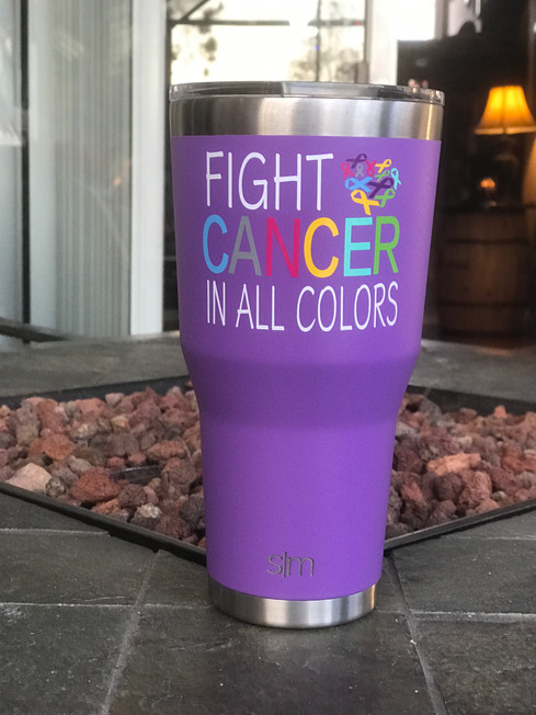 Fight Cancer in all Colors Tumbler