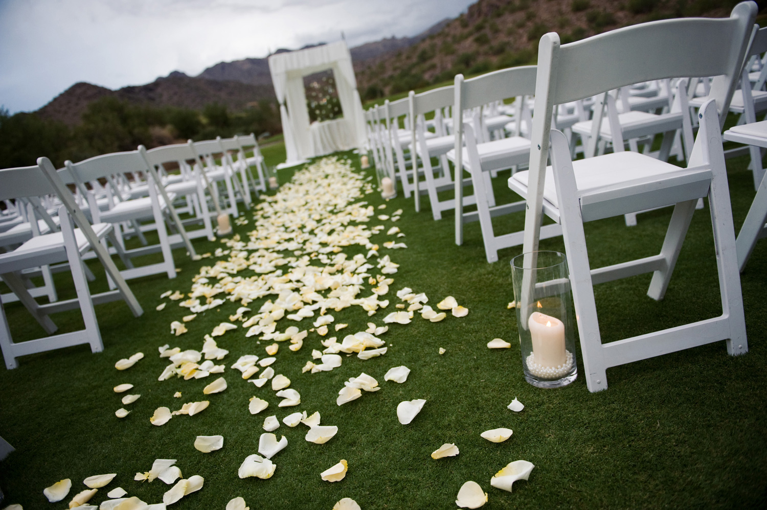 Wedding Aisle on Great Lawn