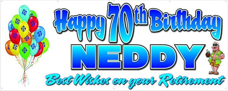 Ned Birthday Banner