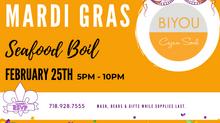 Biyou, Mardi Gras in BK x Seafood Boil