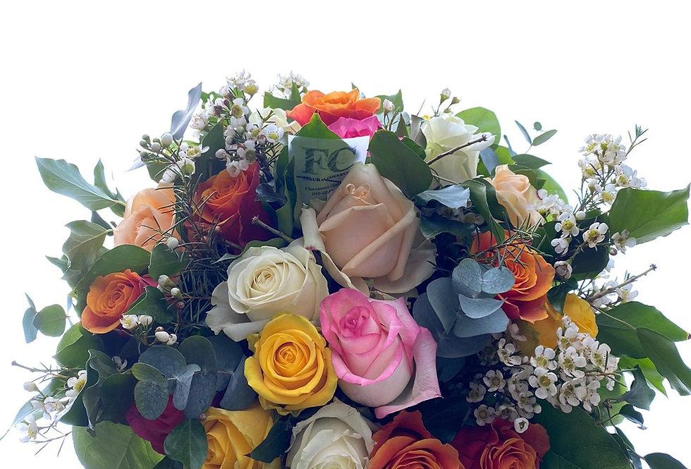 Bouquet melange de roses
