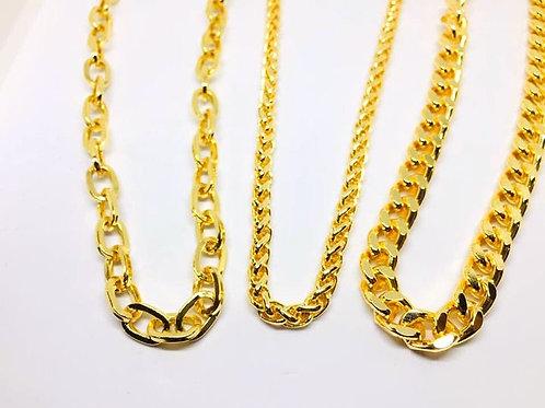 Altın Kaplamalı Zincir Kolye