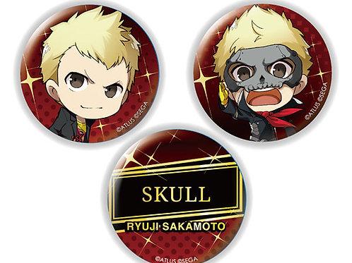 Chara-Forme Persona 5 The Royal Tin Badge Set Ryuji Sakamoto & Skull