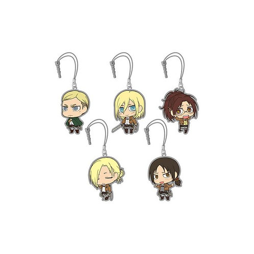 "Attack on Titan Chimi Attack Earphone Jack Mascot 3 ""sealed & randomly picked"""