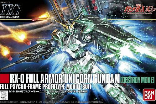 "1/144 HGUC FULL ARMOR UNICORN GUNDAM ""DESTROY MODE"""