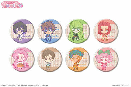 Code Geass: Lelouch of the Rebellion Ponipo Trading Tin Badge 8Pack