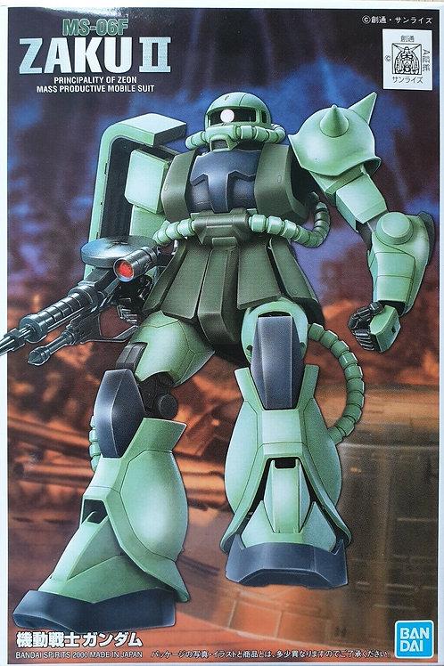 1/144 MS-06F Zaku II (all green plastic)