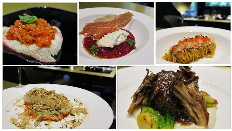 8picure Chef's Signature media tasting dishes