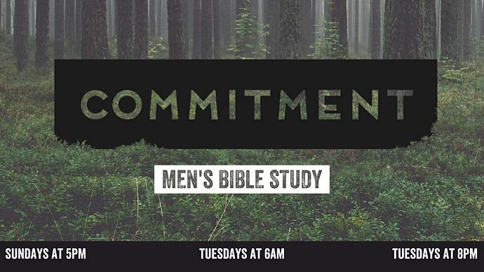 TV Slides - Mens Bible Study Commitment.