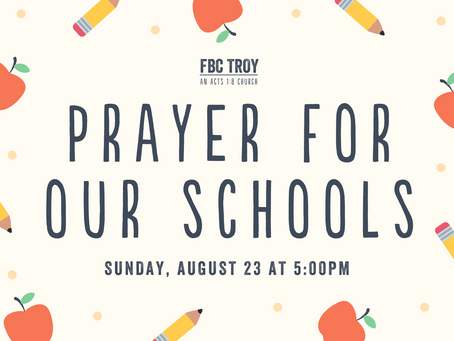 Prayer for Our Schools