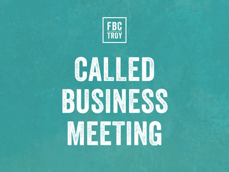 Called Business Meeting - FCO Budget