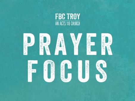 Prayer Focus for 3-1-21