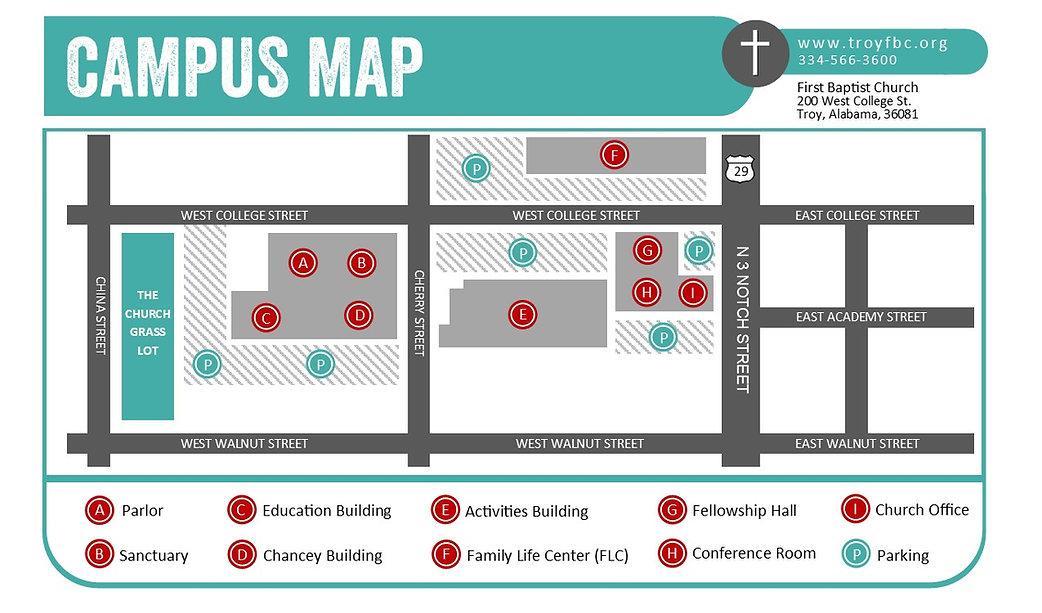 First Baptist Church Troy Alabama Map