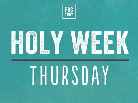 Holy Week Devotional - Thursday
