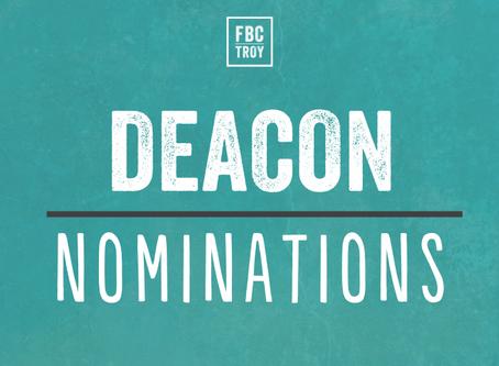 Deacon Nominations