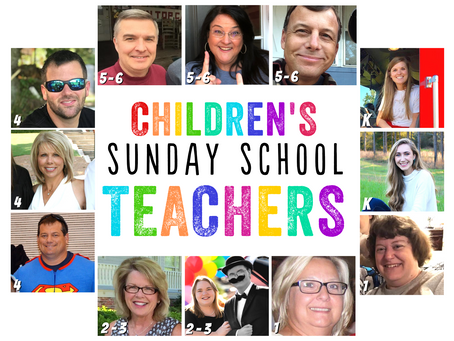Meet the Children's Sunday School Teachers