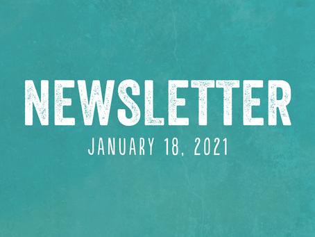 Newsletter for January 18, 2021