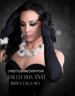 Publicité vitrine et cartons publicitaires Collection bijoux Anat