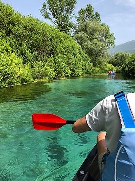 Canoen Tirino rivier.jpg