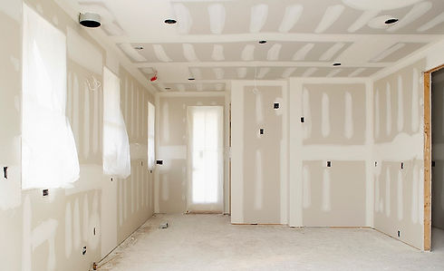 completed drywall taping job