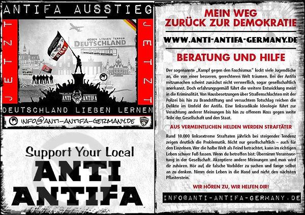 Antifa-Ausstieg Flyer