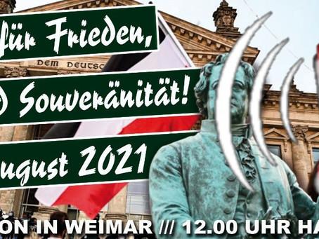 Auflagen für Demonstration in Weimar, 07.08.2021. #WE0708