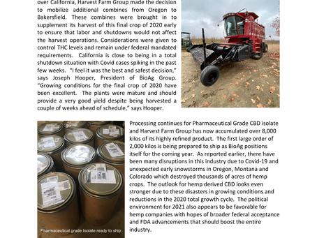 BioAg Group Announces 3rd Harvest of 2020