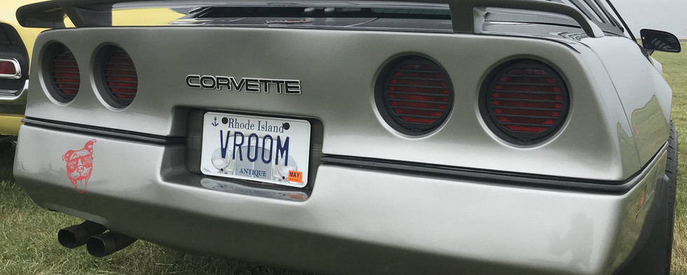 How could you not love the plates on this C4 Corvette ?