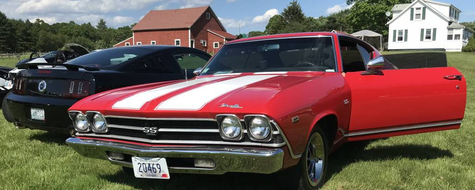 By the middle of the event, we overflowed into yet a fourth lot in the grass field across the street.  This Chevelle was among the gems to be found there.