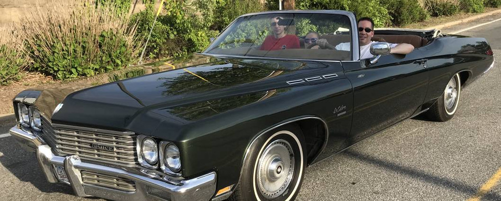 A gorgeous 1971 Buick convertible that was out for its first cruise night with a new owner.  He'll be back !