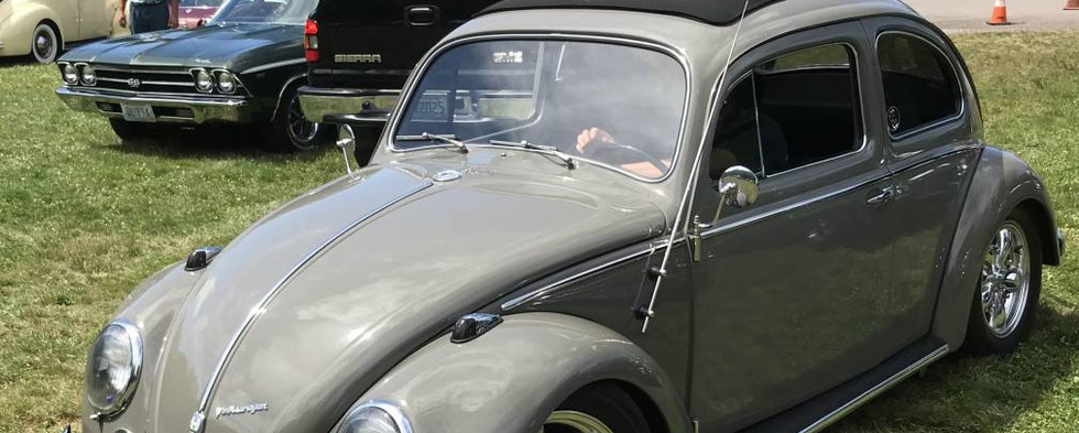 John I came rolling in with his '59 Volkswagen Beetle resto-mod.