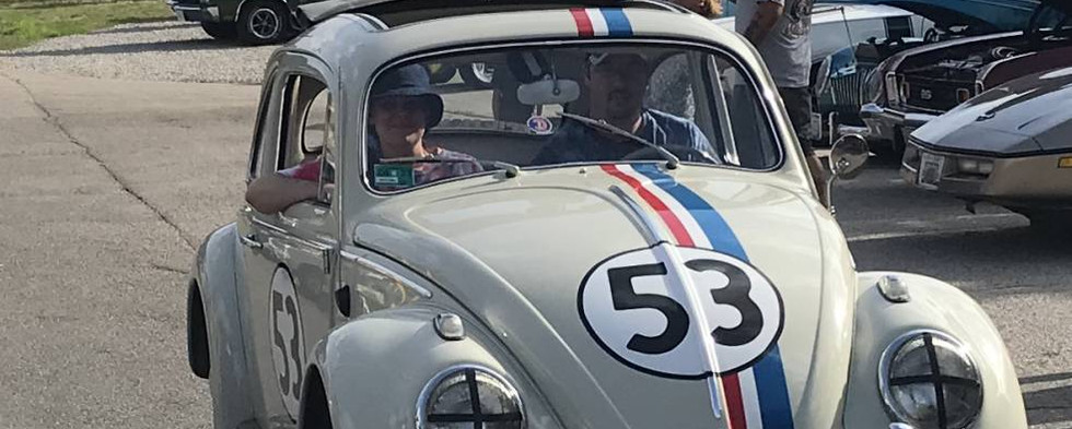 """Eve Herbie showed up !  Everybody knows """"Herbie the Love Bug..."""" and the kids loved coing over to get their pictures taken with him."""