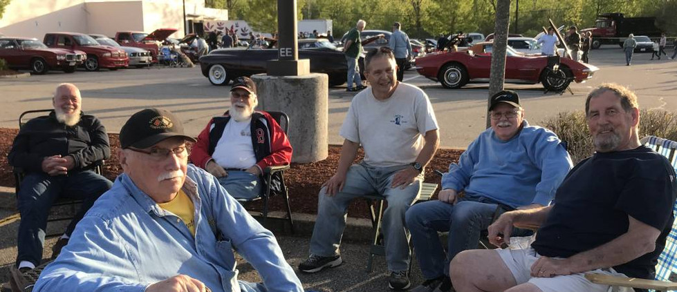 The Corvette Posse was out for its first Friday gathering of the new season.