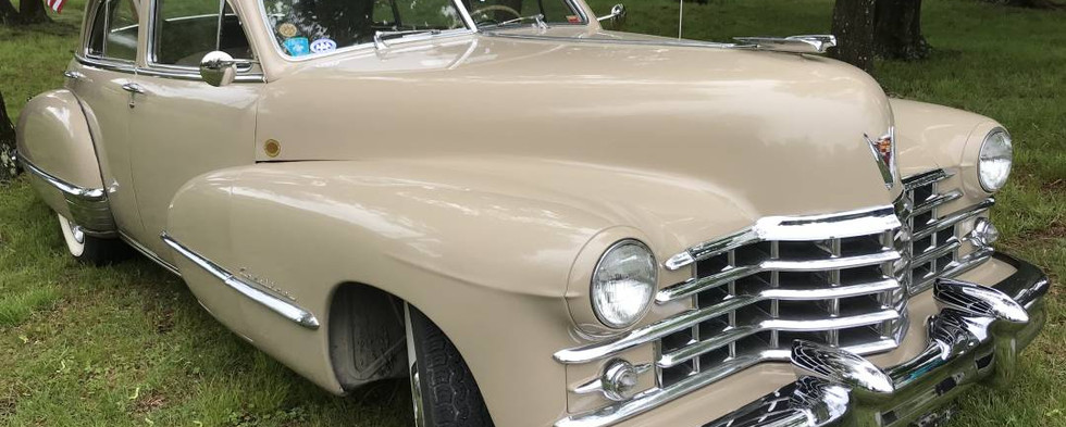 A true CCLA Classic..check out this 1947 Cadillac sedan.  It was the last model year before the Caddy fin craze began.