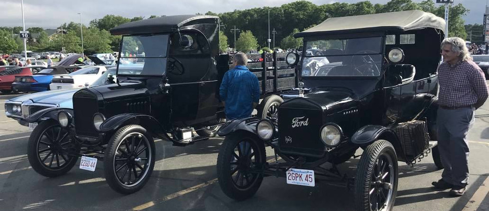 This duo of early Fords were a perfect compliment to one another.  Check out this Model T car & pickup.