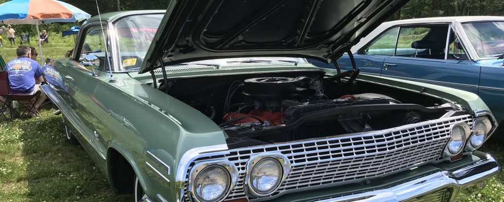 A long-time favorite on the local scene is this gorgeous, show-winning, low-mileage 1963 Chevy Impala..the pride of the Zuba family.