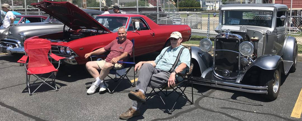 Hanging at the show...seeing old friends and making a few new ones.  That's what a good car show is all about.