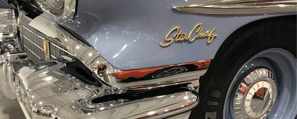 Meanwhile, back inside, this 1958 Star Chief absolutely sparkled under the bright lights of the Mohegan Expo Center.