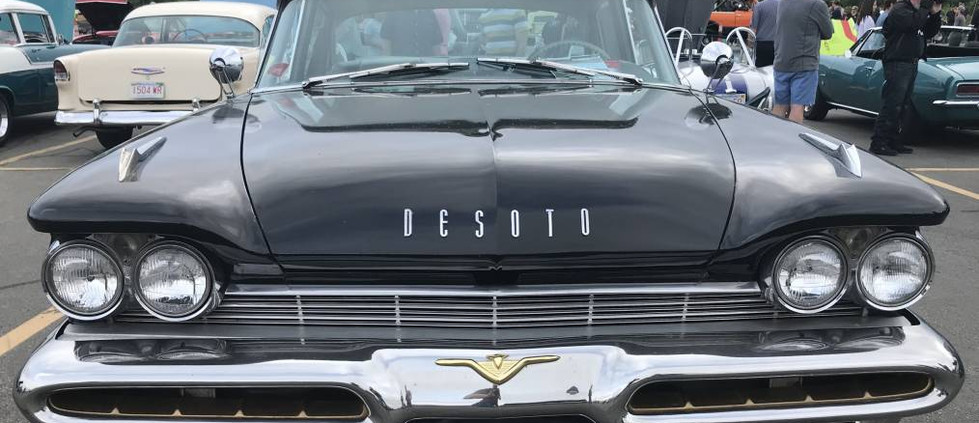 """Hailing from the """"Forward Look"""" era of Mopar history...this 1959 DeSoto sedan was wearing a for sale sign."""