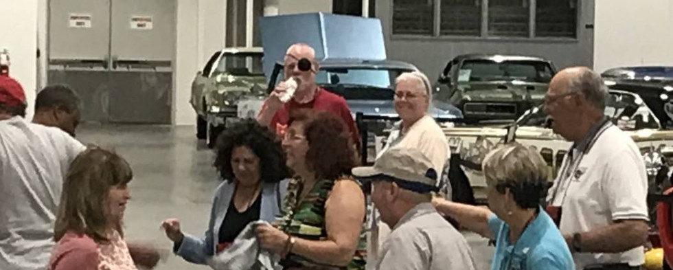 """When Chubby Checker's """"the Twist"""" hit the speakers, a bunch of Pontiac enthusiasts broke out into some impromptu dancing."""