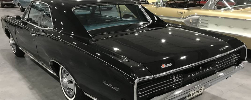 One of the more-interesting Pontiacs being shown was this entirely-original 1967 model in black and turquoise with a factory 3-speed on the floor and still wearing its factory-original paint.