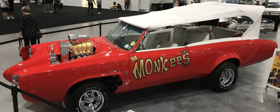 """The one & only """"Monkeemobile"""" was on display, as seen on the original 1966 NBC TV series.   It was a highly-popular attraction throughout the evening."""