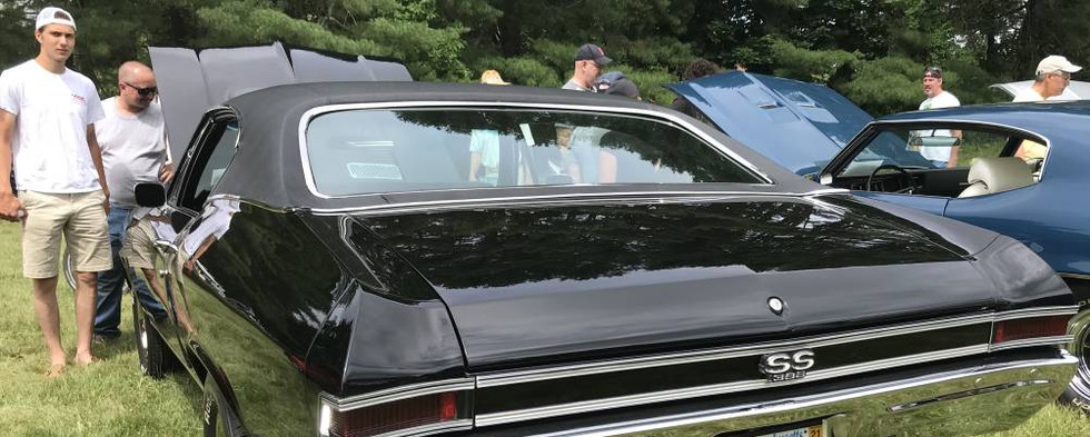 This Chevelle SS had a plate that said it all.  If the bad men in the movies, it would only make sense that bad car guys drive black muscle cars.