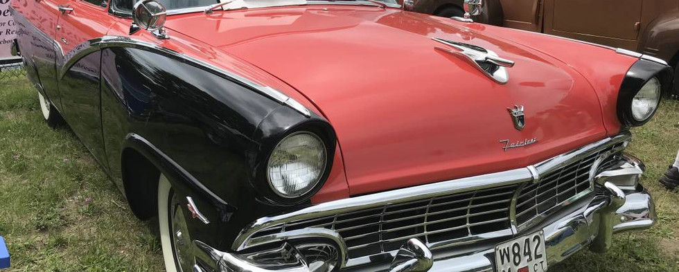 Among Ford's top-sellers in the mid-50s were Town Sedans such as this 1956 example.