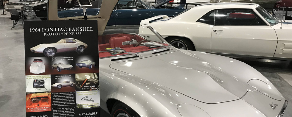 """Another of the highly-interesting specialty Pontiac vehicles on special display was this 1964 """"Banshee.""""   It shows only about 1500 miles since the concept was first put on display."""