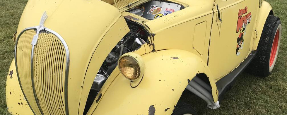 """Another winner of the day was the unusual 1937 Fiat Topolino """"gasser."""""""