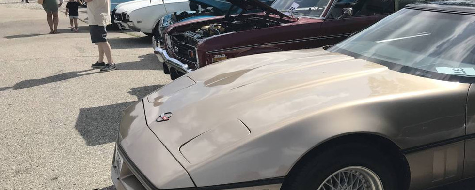 Several Corvettes were mixed in to the late weekend automotive display.