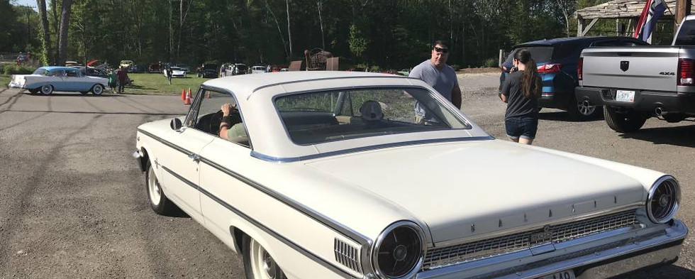 A beautiful '63 and a half Ford Galaxie that rolled through for a brief Sunday morning visit.