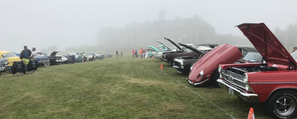 Long lines of great vehicles literally disappeared into the distant fog at times.