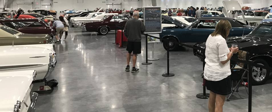 By mid-evening, the display area was bustling with folks, checking out amazing Pontiac history..and catching up with fellow members to pick up when they last left off...whenever that was.